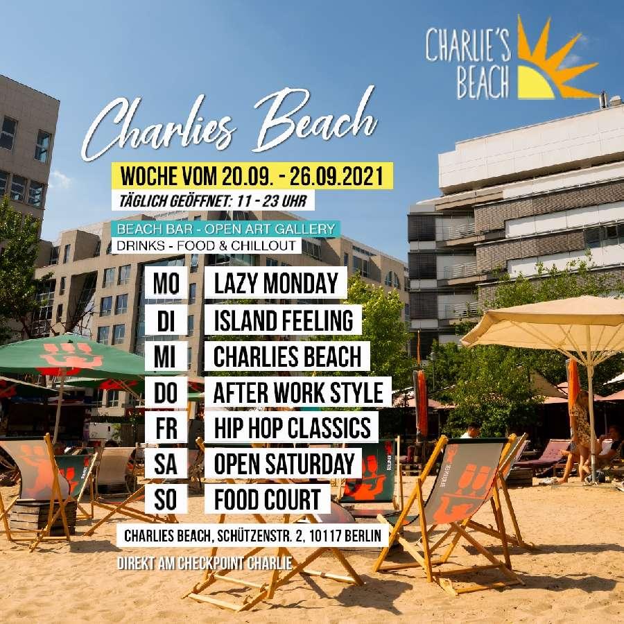 Charlies Beach Eventprogroamm vom 20.-26.09.2021
